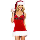 Cosplay Kostýmy Vánoční santa obleky Filmové kostýmy Červená Jednobarevné Šaty / Klobouky Vánoce Dámské Polyester