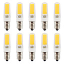 2W E14 LED2本ピン電球 T COB 270-290 lm 温白色 / クールホワイト 明るさ調整 / 防水 V 10個