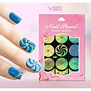 Nový nail art duté samolepky barevné květinové srdce starověké mince image designu nail art krása y001-010
