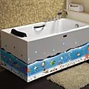 浴室のステッカー壁ステッカー壁ステッカー、海底世界のPVC浴室ステッカー
