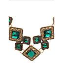 Luksuzna moderna kratka ogrlica s umjetnim dragim kamenjem