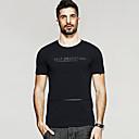 Tee-shirt Homme,Lettre Sortie Décontracté / Quotidien Vintage simple Eté Manches Courtes Col Arrondi Polyester Spandex Moyen
