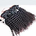3 ks / lot malajské hluboko kudrnaté vlnité vlasy, nejvyšší kvality malajské lidských prodlužování vlasů