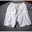 Pánské Aktivní Není elastické Kraťasy Kalhoty Rovné Mid Rise Jednobarevné