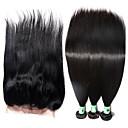 Vlasy Útek se zapínáním Brazilské vlasy Proste 12 měsíců 4 kusy Vazby na vlasy