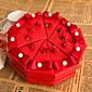 crveni cvijet tortu korist kutija s biserom (set od 10)
