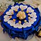 kraljevska plava s ružama kutije kolača korist (set od 10)