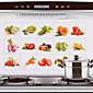 75x45cm voća& povrće uzorak ulja dokaz hot-dokaz kuhinja zid naljepnica vodootpornim