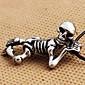 Náhrdelníky Náhrdelníky s přívěšky Šperky Denní Ležérní Skull shape Kožené Titanová ocel Dárek Černá