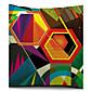 Šareni geometrijski poligon pamuka / lana dekorativni jastuk pokriti
