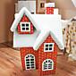 クリスマスオーナメントクリスマス雪の家の赤、ペーパー