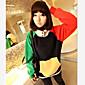 Ingrid ženska kontrast boja dugih rukava hoodie kaput