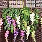 1Pc 3 Podružnica Svila / Plastika Orhideje Cvjeće za stol Umjetna Cvijeće #(74*20*2 cm(29.1*7.9*0.8 in))