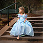 Djevojka je LjetoCvjetni print-Organza-Ljeto-Plava