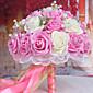 花、淡いピンクと白を保持している30のPEシミュレーションのバラの結婚式のブーケ結婚式の花嫁のブーケ