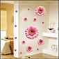 Wandaufkleber Wandtattoo, rosa Gänseblümchen-PVC-Wandaufkleber