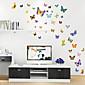 ウォールステッカーウォールステッカースタイルかわいい漫画のカラー蝶ポリ塩化ビニールの壁のステッカー