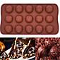 15 rupa silikonski kalup za čokoladni mousse torta pečenje kalup (okrugli čokolada) (boja slučajna)