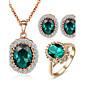 Jewelry Ogrlice / Füllbevalók / Rings imitacija Emerald Vjenčanje / Party / Dnevno / Kauzalni Kristal / Legura / Kubični Zirconia 1set