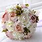 """Svatební kytice Kulatý Růže Kytice Svatba Polyester Satén Korálkový Pěna 24 cm (cca 9,45"""")"""