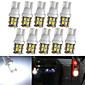 10×T10 20-SMD 1210白色™lorcooは車のライトの電球194 168 2825 5ワットを率い