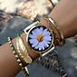 Pánské Dámské Unisex Módní hodinky Náramkové hodinky Křemenný PU Kapela Retro Květiny Černá Bílá Zelená Růžová BéžováBílá Černá Béžová