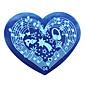 1ks nové šablony manikúra tiskové desky milují kutilství modré filmový tisk šablony 28 broskev hřebík