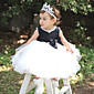 A-kroj Do koljena Haljina za djevojčicu s cvijećem - Til / Poliester Bez rukava Ovalni izrez s