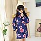 Djevojka je Pernata i pamučna podstava Plava / Ružičasta - Zima , Poliester