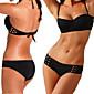 Ženski Bikini - Bandeau grudnjak - Podstavljeni grudnjak - Jednobojni - Spandex / Modal