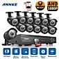 annke® 16CH 1080 DVR CCTV vanjski ir sustav kućnog sigurnosnih kamera sa 2TB hard disk