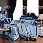 Cvijetan Poplun Cover Sets 4 komada Pamuk / Modal / Tencel Luksuzno Jacquard Pamuk / Modal / Tencel Bračni / Veliki bračni1pc duvet Cover
