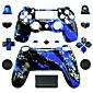 PS4コントローラー用の交換用コントローラケース(ブルースプラッシュ)