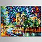 Ručno oslikana sažetak / Pejzaž / apstraktno krajobraz moderne / Europski stil ulje na platnu, platno jedna ploča