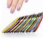 Sažetak-3D Nail Naljepnice- zaPrst / nožni prst-0.1cm for the wideth-10pcs nail striping tape line stickerskom. -Other