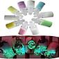 1 set (10 boca) nail art glitter shinning ukras nail art kozmetičke alate nc173