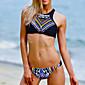 Ženski Bikini - Grudnjak na vezanje - Push-up - S cvjetnim printom - Najlon