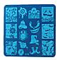 Nový festival vánoční halloween čtvercový manikúra tiskové desky element