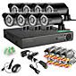 8chの960Hネットワークのdvr 8本1000tvl IR屋外CCTVセキュリティカメラシステム