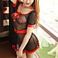 Žene Ultra seksi / Seksi spavaćica / kineska haljina / Odijelo Noćno rublje Kolaž-Organza Crna