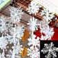 30pcs Božićni snijeg pahuljice bijele Snowflake Ukrasi za odmor božićno drvce decortion festivalski party dom dekor