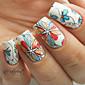 1set Nail Art naljepnica Prijenos vode Decals Cvijet šminka Kozmetički Nail art dizajn