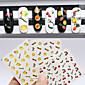 3pcs Nail Art samolepka Voda na přestupy Nálepky make-up Kosmetické Nail Art design