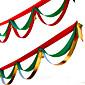 1ks náhodné barvy vánoční dekorace pro domácí průměru 400 cm strana navidad nový rok zásoby vánoční vlajky hedvábí stuha