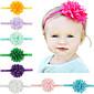 11pcs / set djevojčica šifon cvijet traka za glavu todder kosu dojenčadi hairband