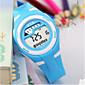 子供用 ファッションウォッチ 中国 デジタル ラバー バンド カジュアルスーツ ブラック ブルー ローズ